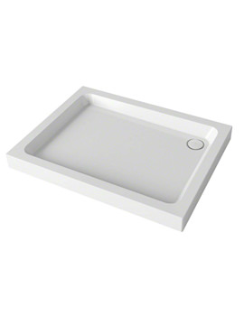 Mira Flight 900 x 760mm Rectangle Shower Tray With 4 Upstand