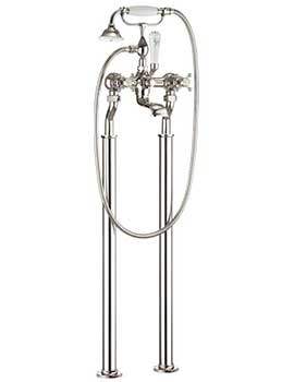 Crosswater Belgravia Crosshead Nickel Bath Shower Mixer Tap With Legs