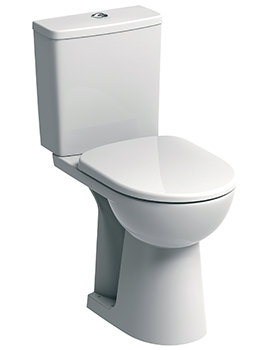 Twyford E100 Square 460mm Raised Height Close Coupled WC Suite