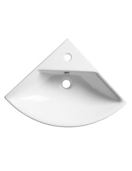 Roper Rhodes Zest 630 x 450mm Corner Basin With Overflow