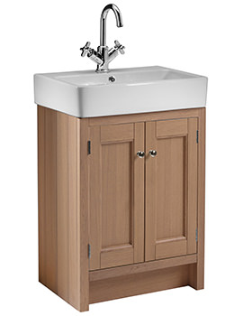 Roper Rhodes Hampton Natural Oak 550mm Countertop Unit