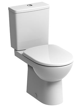 Twyford E100 Square Premium Close Coupled WC Pan And Cistern 680mm