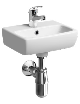 Twyford E100 Square 360 x 280mm Handrinse Washbasin