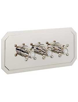 Crosswater Belgravia Crosshead Landscape Nickel Thermostatic Valve With 3D