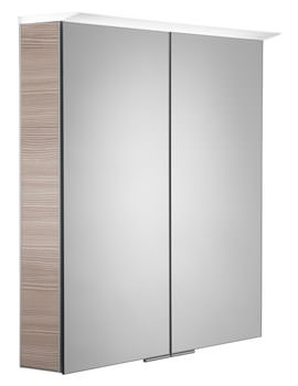 Roper Rhodes Visage 655mm Pale Driftwood LED Illuminated Mirror Cabinet