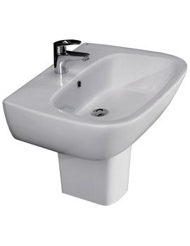 RAK Elena 600mm 1 Tap Hole Basin And Half Pedestal