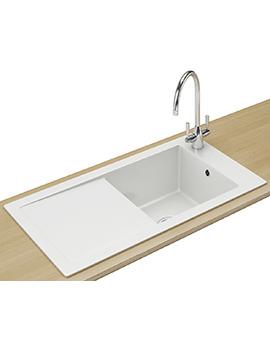 Franke Aspen ANK 611 Designer Pack - Ceramic White Sink And Tap