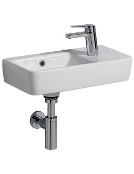 Twyford E200 1 RH Tap Hole 500 x 250mm Washbasin With LH Bowl