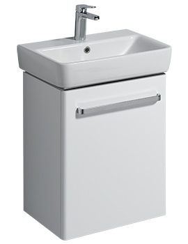 Twyford E200 500mm White Unit For 550mm 1 Or 2 Tap Hole Basin