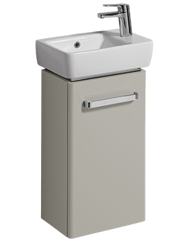 Twyford E200 348mm Grey Unit And 400mm 1 Right Hand Tap Hole Basin