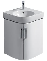 Twyford E200 690mm White Corner Unit And 500mm Handrinse Basin