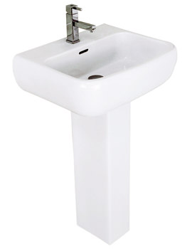 RAK Metropolitan 525mm Basin And Full Pedestal