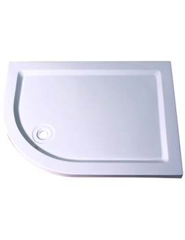 Aqualux Aqua 55 Off-Set Quadrant Shower Tray 1200mm x 900mm LH