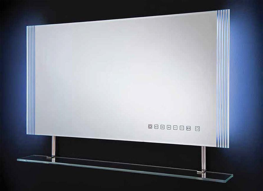 rak reflections 85 white framed led mirror with shelf. Black Bedroom Furniture Sets. Home Design Ideas