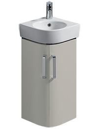 Twyford E200 425mm Grey Corner Unit And 320mm Handrinse Basin