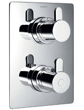 Flova Essence Concealed Thermostatic Shower Valve With 2 Way Diverter