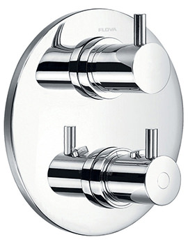 Flova Levo Concealed Thermostatic Round Shower Valve With 2 Way Diverter