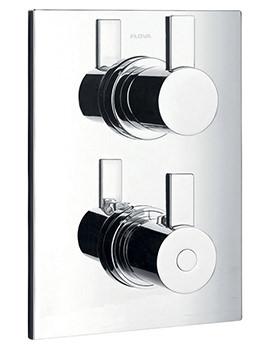 Flova Str8 Concealed Thermostatic Shower Valve With 2 Way Diverter