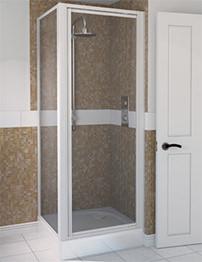 Aqualux Aqua 4 900mm Pivot Shower Door - White