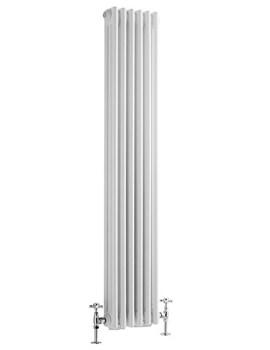 Reina Colona White Vertical 2 Column Radiator 380 x 1800mm