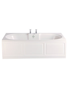 Heritage Dorchester Acrylic Solid Skin Double Ended 1700 x 750mm Bath