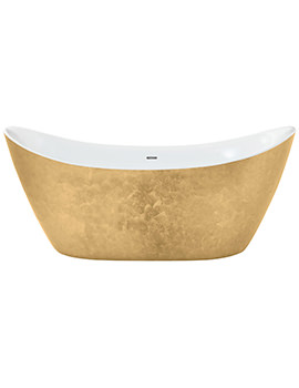 Heritage Hylton 1730 x 730mm Freestanding Gold Effect Acrylic Bath