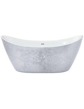 Heritage Hylton 1730mm Freestanding Stainless Steel Effect Acrylic Bath