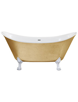 Heritage Lyddington 1730mm Freestanding Gold Effect Acrylic Bath With Feet