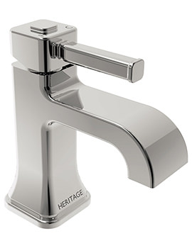 Heritage Somersby Chrome Finish 1 Taphole Basin Mixer Tap