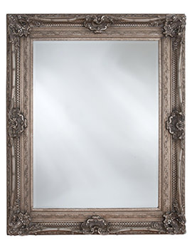 Heritage Chesham 990 x 1300mm Vintage Silver Wooden Framed Mirror
