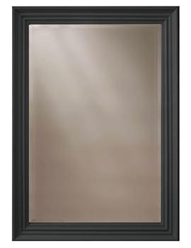 Heritage Edgeware 660 x 910mm Onyx Black Wooden Framed Mirror