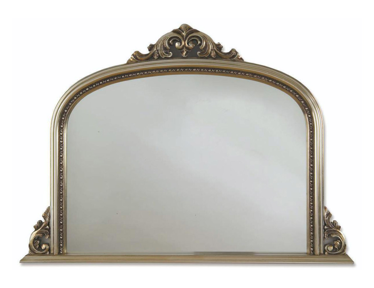 Heritage archway 1270x910mm champagne silver wooden framed for Silver framed mirror