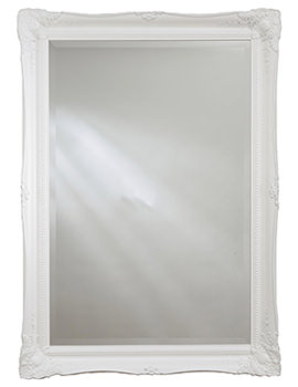 Heritage Balham 660 x 910mm White Wooden Framed Mirror