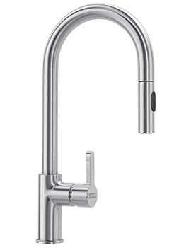 Franke Arena Pull Out Spray SilkSteel PVD Kitchen Sink Mixer Tap