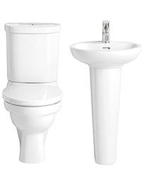 Heritage Caprieze Close Coupled WC Set And Basin - Bundle 1