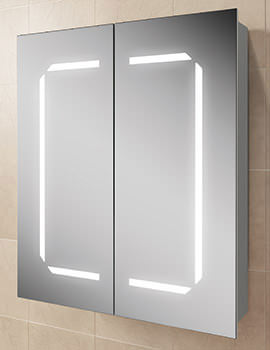 HIB Zephyr 60 Steam Free LED Illuminated Aluminium Cabinet 600 x 700mm