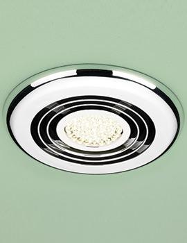 HIB Turbo Warm White LED Illuminated Chrome Inline Fan