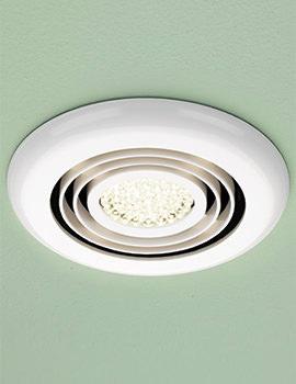 HIB Turbo Warm White LED Illuminated White Inline Fan