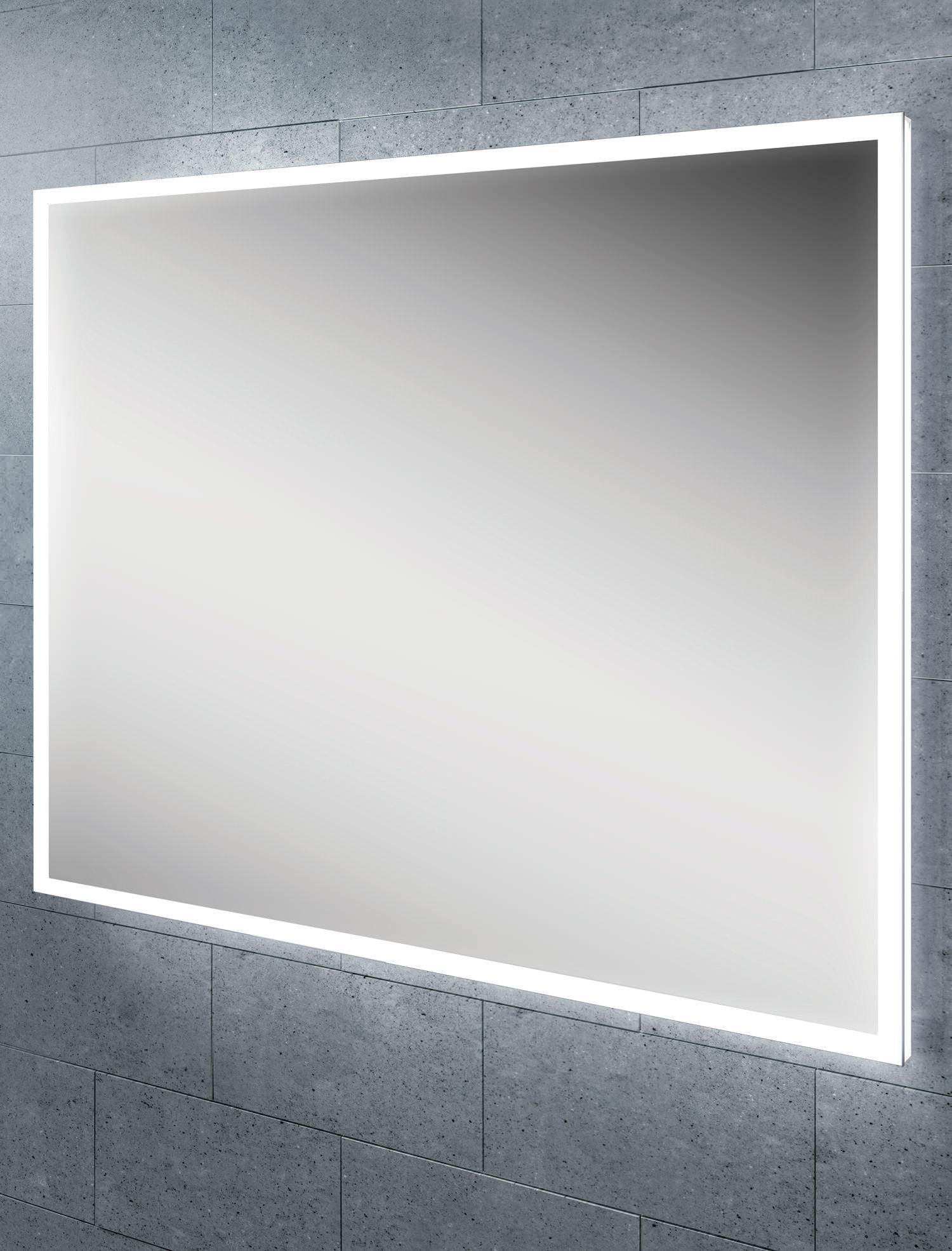 Hib globe 60 steam free led illuminated bathroom mirror for Mirror 60cm x 80cm