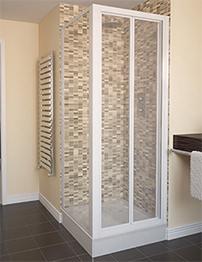 Aqualux Aqua 4 800mm Bi-Fold Shower Door - White