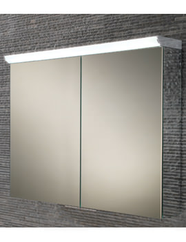 HIB Ember 80 Double Door LED Illuminated Aluminium Cabinet 800 x 700mm