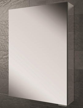 HIB Eris 50 Single Door Aluminium Cabinet With Mirrored Sides 500 x 700mm