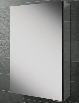HIB Eris 40 Single Door Aluminium Cabinet With Mirrored Sides 400 x 600mm