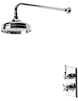 Tavistock Varsity Thermostatic Concealed Valve With Shower Head And Arm