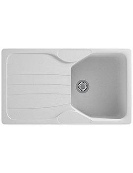 Franke Calypso COG 611 Polar White 1.0 Bowl Kitchen Inset Sink