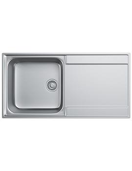 Franke Maris MRX 211 Slim-Top Stainless Steel RH Drainer Inset Sink