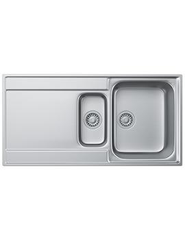 Franke Maris MRX 251 Slim-Top Stainless Steel LH Drainer Inset Sink
