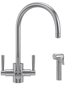Franke FilterFlow Olympus SilkSteel Kitchen Sink Tap With Hand Spray