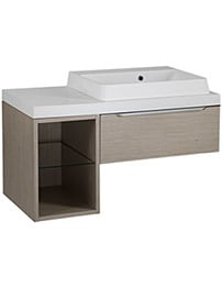 Tavistock Array Light Java 600mm 1 Drawer Basin Unit With 300mm Open Unit