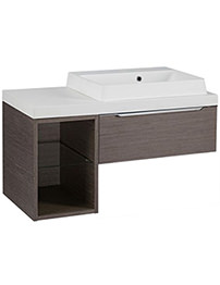 Tavistock Array Dark Java 600mm 1 Drawer Basin Unit With 300mm Open Unit